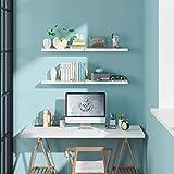 4er Set Schweberegal Wandboard Wandregal Bücherregal Hängeregal Küchenregal Büroregal Hängeregal Raumteiler weiß