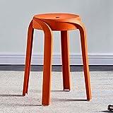 MKXF Kunststoff Hocker Hocker Haushalts Verdicken Nordic Stil Hocker Runde Hocker Bad Hocker Schuh Ändern Hocker Anti-Rutsch-Dining Chair Waiting,G