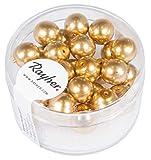 Rayher Hobby Rayher 14402616 Renaissance Glaswachsperlen, 8mm Ø, gold, Dose 25Stück