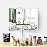 FENCHILIN Make-up-Spiegel – 20 LED-Lichter Kosmetikspiegel & Touch-Screen, dimmbar und abnehmbar, 10-fache Vergrößerung. 3 Tri Mirror