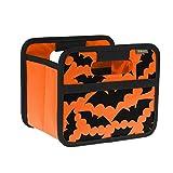 meori Orange/Halloween – Kleine Klappbox mit Griffen – Geschenkidee und Allzweck Aufbewahrungslösung-A100308-16,5 x 12,5 x 14 cm Faltbox, Polyester, Mini Box