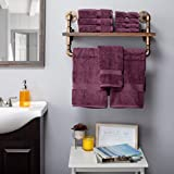 Superior Badezimmer-Zubehör, Badetuch-Set, 10 Stück, Pflaume, 10 Stück