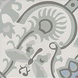 Casa Moro Orientalische Fliesen Ranja 20 x 20 cm 1 qm aus glasiertem Feinsteinzeug in Zementoptik | Bodenfliesen & Wandfliesen als Wand-Dekoration für schöne Küche Flur & Badezimmer | FL7022