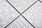Handmuster Retro Vintage Mosaik Fliese Keramik weiß Spirit weiß MOS22B-0104_m