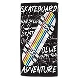 HGOD DESIGNS Skateboard-Handtücher, buntes Skateboard-Poster, 100% Baumwolle, weiche Badetücher für Badezimmer, Küche, Hotel, Spa, 38,1 x 76,2 cm