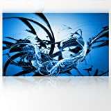 LanaKK - Graf Blau - Fototapete Poster-Tapete - edler Kunstdruck auf Vliestapete in 300x180 cm