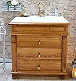 Waschbecken mit Unterschrank Landhaus-Badmöbel Keramik-Waschbecken mit Unterschrank Nostalgie Landhausstil