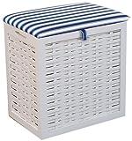Hansen Korb 5/112 Wäsche-Sitzhocker/aus Pinienholz, weiß lackiert/B 46 T 32 H 52 cm
