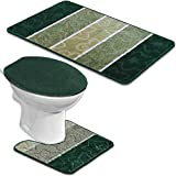 BADGARNITUR ORION 3-TEILIG BADMATTE, BAD SET GRÜN STAND WC