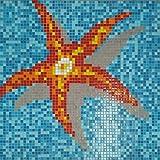Mosaik Bild Glas orangegelb Bild Seestar papierverklebt 1.164x1.164mm MOSMB-K39P