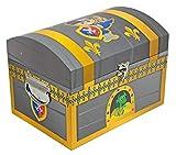 Das Kostümland Ritter Schatzkiste - Klein - Schatztruhe Dekoration für Geburtstag, Hochzeit oder Mottoparty - Box Truhe Kiste für kleine und große Ritter