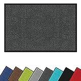 Schmutzfangmatte für den Innen- und Außenbereich, waschbar, rutschfest, für den Eingangsbereich, für Schuhe, Schaber, saugfähiger Teppich (dunkelgrau, 60 cm _X_80 cm)