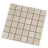 """""""Acanto Bianco"""", Mosaik 4,7x4,7 cm, Feinsteinzeug Fliesen in Holzoptik (Mosaik 2)"""