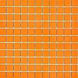 Mosaik Fliesen Mosaikfliesen Keramikmosaik Keramik Kachel orange glänzend