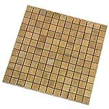 """""""Vintage Rovere"""" Mosaik 2,3x2,3 cm, Feinsteinzeug Fliese mit Holzoptik und dezenter Struktur (Mosaik 1 Lage)"""