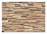 HO-010-1 Modul Teakholz Paneele Wandverkleidung Holz Wandverblender Teak Design Wanddekoration Wood Wall Panel - Fliesen Lager Verkauf Stein-mosaik Herne NRW