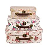 Aufbewahrungs-Koffer, Stil: Retro/Vintage, 3er-Set  Retro Vintage Rose Floral