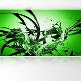 LanaKK - Graf Grün - Fototapete Poster-Tapete - edler Kunstdruck auf Vliestapete in 420x240 cm