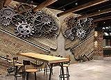3D Fototapete 3D Effekt Industrieausrüstung Holzmaserung Retro Tapete 3D Wandbild Bild Tapeten Wandtapete Dekoration Wandbelag Wanddeko