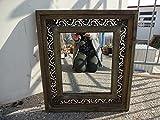 WOW Wandspiegel Spiegel Holz Antik Mediterran Landhaus mit Ornamenten
