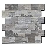 Backsplash PVC-Fliese, zum Aufkleben, für Küche, Badezimmer, Waschtisch, Kamin-Dekor, Wäschetisch, Treppenaufkleber, 30,5 x 30,5 cm, 1 Bogen