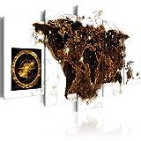 murando Acrylglasbild Weltkarte 200x100 cm 5 Teilig Wandbild auf Acryl Glas Bilder Kunstdruck Moderne Wanddekoration - Landkarte World Map Kontinente k-A-0010-k-n