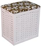 Hansen Korb 5/114 Wäsche-Sitzhocker/aus Pinienholz, weiß lackiert/B 46 T 32 H 52 cm