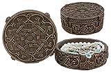 Ebros Bronze Viking Box 12,1cm lang Stash Box Jewelry Andenken nordischen Thor Hammer