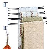 Swing Arm Handtuch Bars 4 Arm Wandhalterung Swing Out Handtuchregal