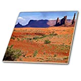 3dRose USA, Utah, Monument Valley. Totem Pole mit EIN Sand Dune.–Keramik Fliesen, 12Zoll (CT 208502_ 4)