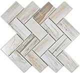 Mosaik Fliese Keramik beige Fischgrät Holz hell für BODEN WAND BAD WC DUSCHE KÜCHE FLIESENSPIEGEL THEKENVERKLEIDUNG BADEWANNENVERKLEIDUNG Mosaikmatte Mosaikplatte
