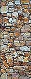 wandmotiv24 Türtapete Steinmauer aus Natursteinen 80 x 200cm (B x H) - Dekorfolie selbstklebend Sticker für Türen, Tür-Bilder, Aufkleber, Deko Wohnung modern M0936