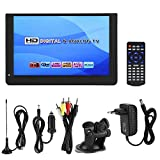 Socobeta Handheld-TV-Player Tragbarer Mini 1080P 12-Zoll-16: 9-LED-Handheld-DVB-T/T2-Digital-TV-Player