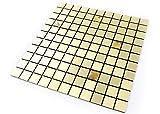 ROSEROSA schälen und Stick Fliesen Metall Duett für Küche, Wand Fliesen Aluminium Oberfläche: 5Stück 11.81 inch X 11.81 inch Metal-402