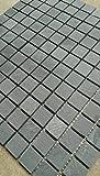 Mosaik Matte Schiefer Anthrazit 30x30 cm matt Naturstein Fliesen Schwarz M039