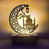 Ramadan Eid Dekorationen, Mubarak Ramadan Eid Dekorationen Retro Nachtlicht Mond Ornament LED Nachtlicht Keine Batterie, Ramadan Eid Dekorationen für Schlafzimmer Wohnzimmer Party Hochzeit (A)