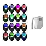 WC-Nachtlicht, PIR-Bewegungssensor, LED, Waschraum, Nachtlicht, Innenbeleuchtung, WC, Lampe mit Farbwechsel, batteriebetrieben, Bewegungsmelder für Badezimmer und Waschraum Modern 16 Farben