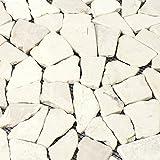 Naturstein Fliesen Marmor Bruch Biancone   Wandfliesen   Mosaik-Fliesen   Bruch-Mosaik   Naturstein   Ideal für die Küche und Badezimmer
