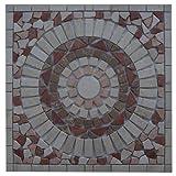 Marmor Rosone 60x60 cm Rot Beige Creme Naturstein Mosaik Einleger Fliesen 33015