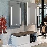 Artforma Flurmöbel set 3-telig | Garderobenschrank + Shuhschrank + Hängeschrank | 7 Erhältliche Farben | Spiegelschränke mit LED Beleuchtung | LED Farbe Kaltweiß 7000k