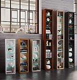 VCM Regal DVD CD Rack Möbel Aufbewahrung Holzregal Standregal Möbel Anbauprogramm Rasato Höhe 77 cm, Beton-Optik