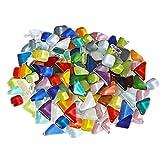 WYMAODAN Glasmosaikfliesen, 200 g, gebeizt, gemischte Formen, Glasstücke für Kunst und Handwerk, Heimdekoration, Wände, Möbel, Teller, Bilderrahmen, Blumentöpfe, Spiegel (10 A)