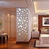 3D modern Wasserdicht Tapete, Acryl spiegel Wandaufkleber Wandtattoo Papier Abnehmbare selbstklebend Tapete für Schlafzimmer Wohnzimmer moderne Hintergrund TV-Decor Unregelmäßige Punkte Silber