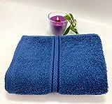 MAS 100 % ägyptische Baumwolle, weich und saugfähig, Handtuch, Badetuch, Friseursalon-Handtücher, Fitnessstudio, Spa und Massage-Handtücher – Badezimmer-Zubehör – 4 Hand- und 4 Badetücher (blau)