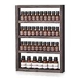 LIANTRAL Regal für ätherische Öle, Wandmontage, aus Holz, für ätherische Öle und Nagellack, Espresso