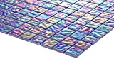 Complement 10x10cm Muster. Glas Mosaik Fliesen Muster Violett mit mehrfarbigem Schimmer MT0042 Muster
