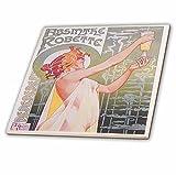 3dRose ct_149289_4 Vintage Absinthe Robette Französische Weinwerbung Poster Keramik Fliesen 30,5 cm