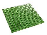 Glasmosaik Grün 2,3 x 2,3 cm Fliesen Mosaik 8 mm