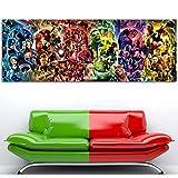 Leinwand-Malerei Innen Leinwand-Malerei The Infinity Saga - Marvel Cinematic Universe Wall Art Poster Avengers Endgame Leinwand-Malerei-Seide Gedruckte For Raum-Dekor