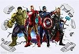Die Avengers Superhelden 3d Gebrochene Wandaufkleber Hulk Iron Man Poster Wandbild Kinderzimmer Dekoration Vinyl Anime Tapete